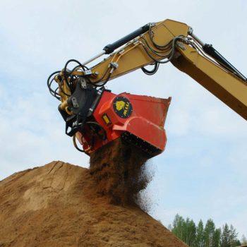 Soil screening bucket-2
